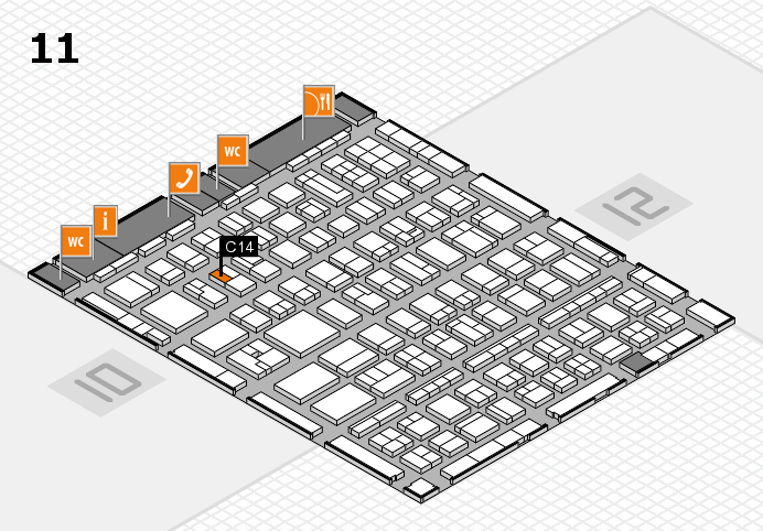 BEAUTY DÜSSELDORF 2017 hall map (Hall 11): stand C14
