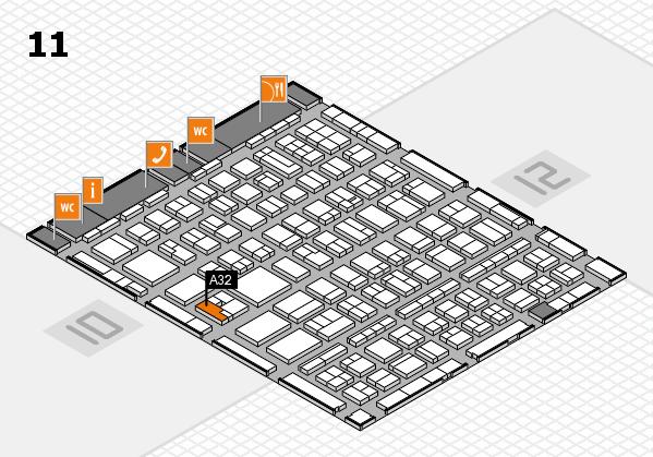 BEAUTY DÜSSELDORF 2017 hall map (Hall 11): stand A32