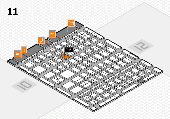 BEAUTY DÜSSELDORF 2017 hall map (Hall 11): stand E16