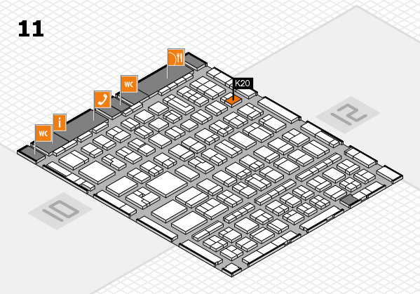 BEAUTY DÜSSELDORF 2017 hall map (Hall 11): stand K20