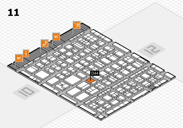 BEAUTY DÜSSELDORF 2017 hall map (Hall 11): stand D44
