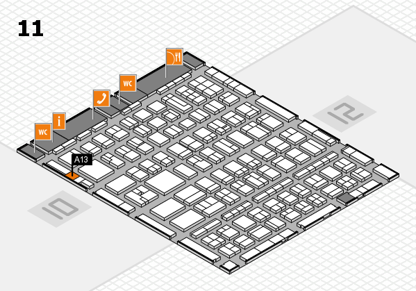 BEAUTY DÜSSELDORF 2017 Hallenplan (Halle 11): Stand A13