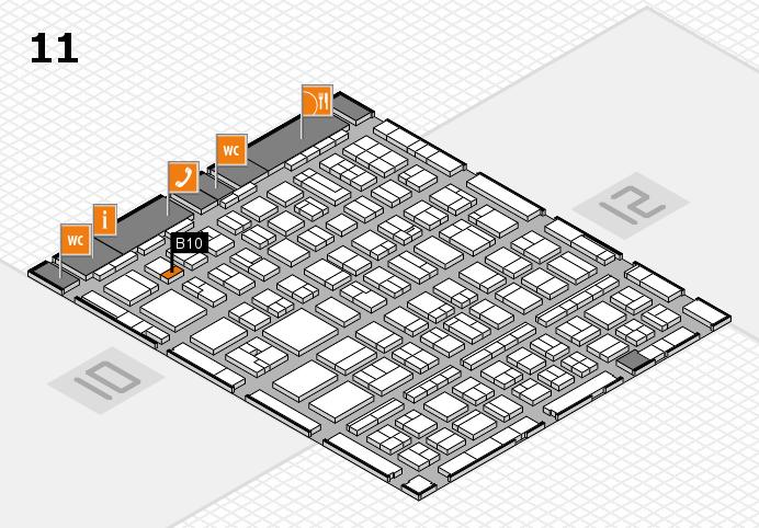 BEAUTY DÜSSELDORF 2017 hall map (Hall 11): stand B10