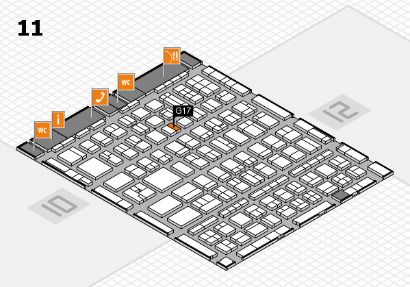BEAUTY DÜSSELDORF 2017 hall map (Hall 11): stand G17