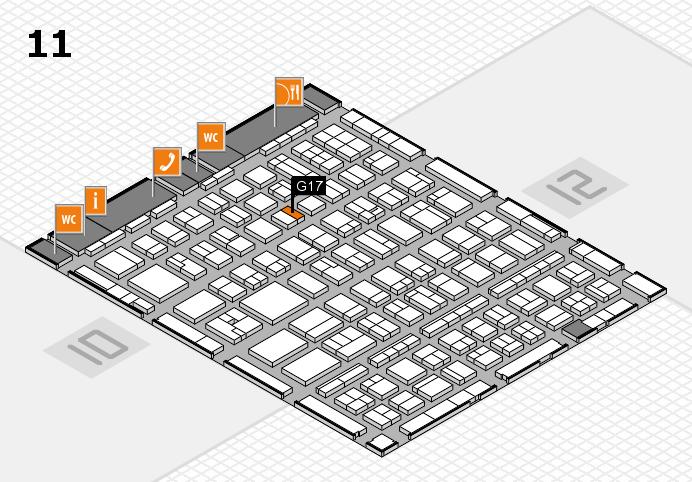 BEAUTY DÜSSELDORF 2017 Hallenplan (Halle 11): Stand G17