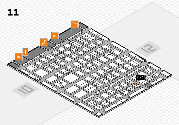 BEAUTY DÜSSELDORF 2017 hall map (Hall 11): stand H71