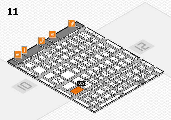 BEAUTY DÜSSELDORF 2017 hall map (Hall 11): stand A50