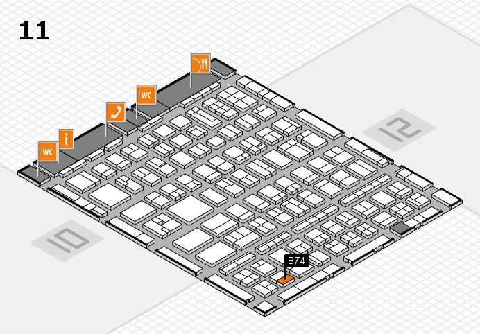 BEAUTY DÜSSELDORF 2017 hall map (Hall 11): stand B74