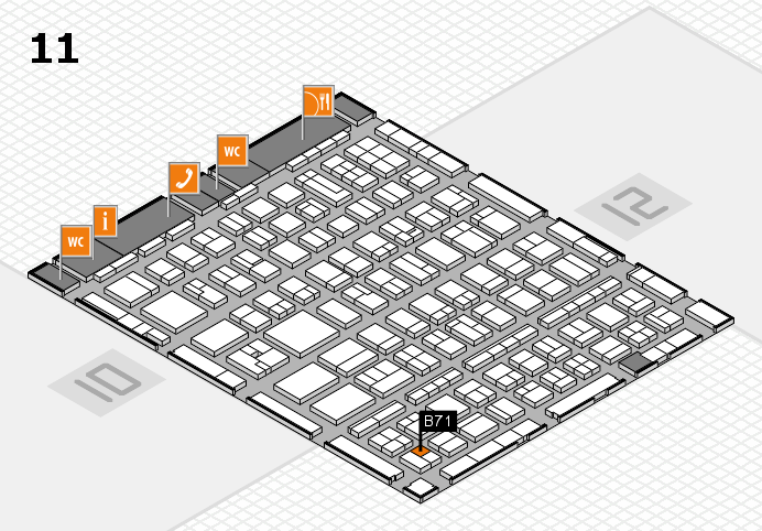 BEAUTY DÜSSELDORF 2017 hall map (Hall 11): stand B71