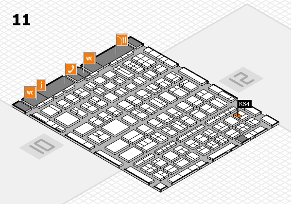 BEAUTY DÜSSELDORF 2017 hall map (Hall 11): stand K64