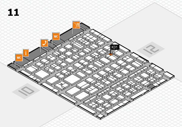 BEAUTY DÜSSELDORF 2017 hall map (Hall 11): stand K31