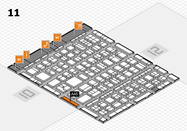 BEAUTY DÜSSELDORF 2017 hall map (Hall 11): stand A45