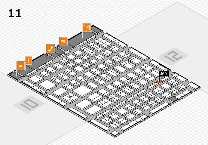 BEAUTY DÜSSELDORF 2017 hall map (Hall 11): stand J60