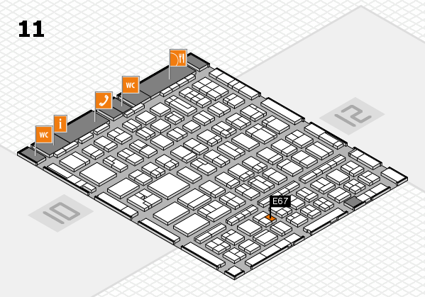 BEAUTY DÜSSELDORF 2017 hall map (Hall 11): stand E67