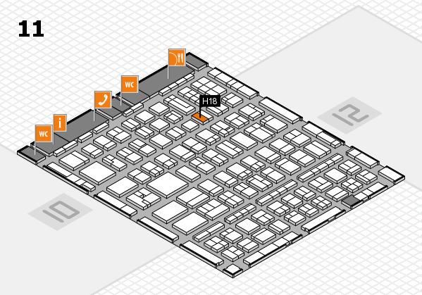 BEAUTY DÜSSELDORF 2017 hall map (Hall 11): stand H18