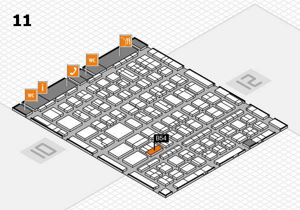 BEAUTY DÜSSELDORF 2017 hall map (Hall 11): stand B54