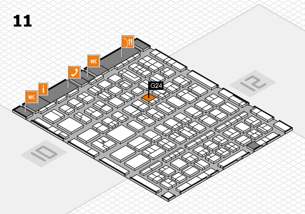 BEAUTY DÜSSELDORF 2017 hall map (Hall 11): stand G24