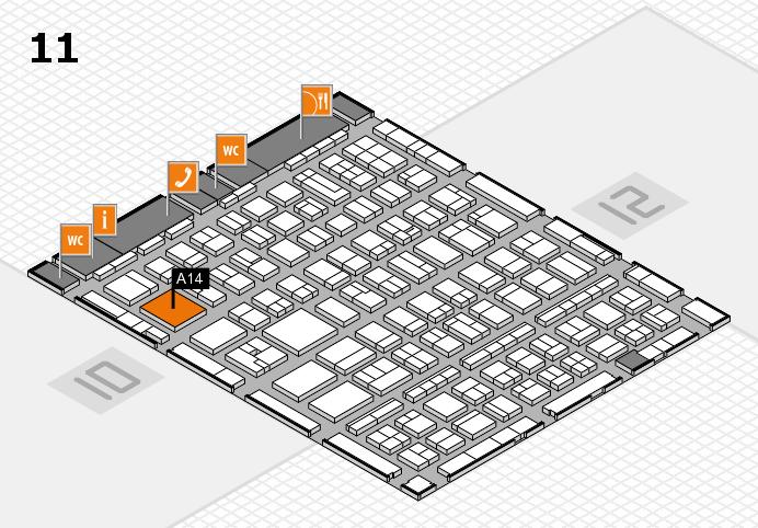 BEAUTY DÜSSELDORF 2017 Hallenplan (Halle 11): Stand A14