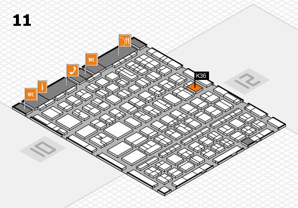 BEAUTY DÜSSELDORF 2017 hall map (Hall 11): stand K36