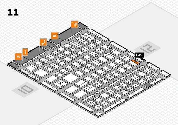 BEAUTY DÜSSELDORF 2017 hall map (Hall 11): stand L49