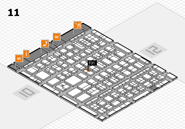 BEAUTY DÜSSELDORF 2017 hall map (Hall 11): stand F31