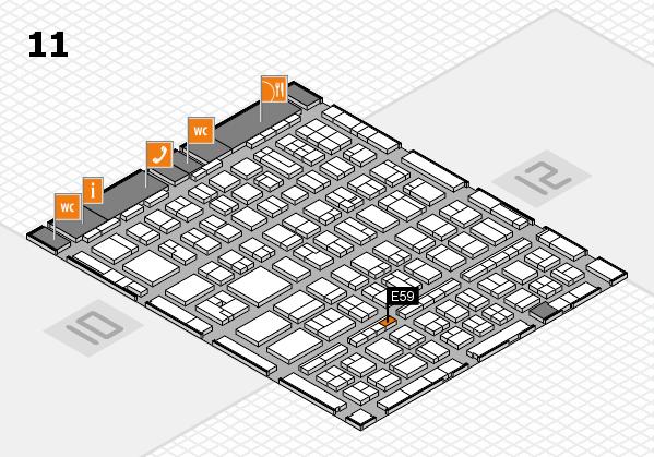 BEAUTY DÜSSELDORF 2017 hall map (Hall 11): stand E59