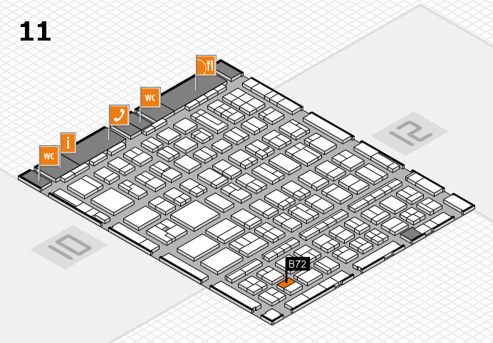 BEAUTY DÜSSELDORF 2017 hall map (Hall 11): stand B72