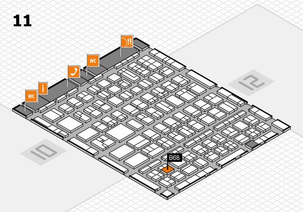 BEAUTY DÜSSELDORF 2017 hall map (Hall 11): stand B68