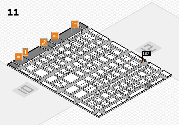 BEAUTY DÜSSELDORF 2017 hall map (Hall 11): stand L52