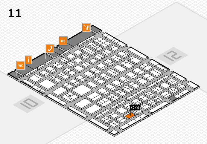 BEAUTY DÜSSELDORF 2017 hall map (Hall 11): stand C74