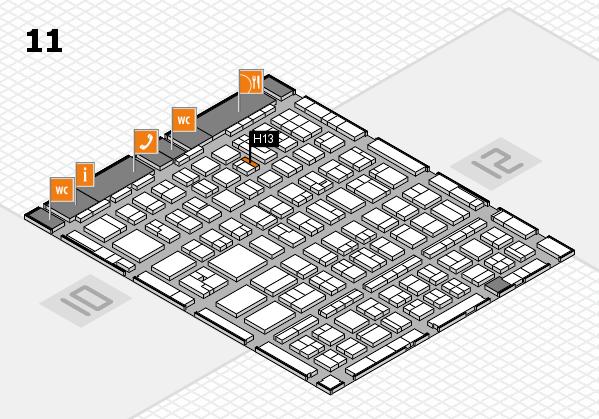 BEAUTY DÜSSELDORF 2017 hall map (Hall 11): stand H13