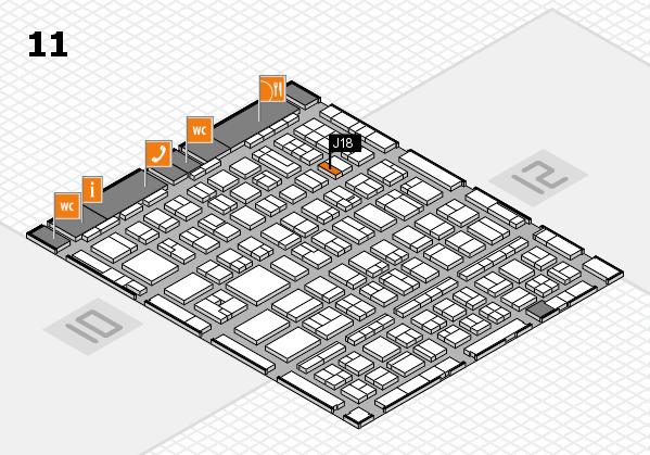 BEAUTY DÜSSELDORF 2017 hall map (Hall 11): stand J18