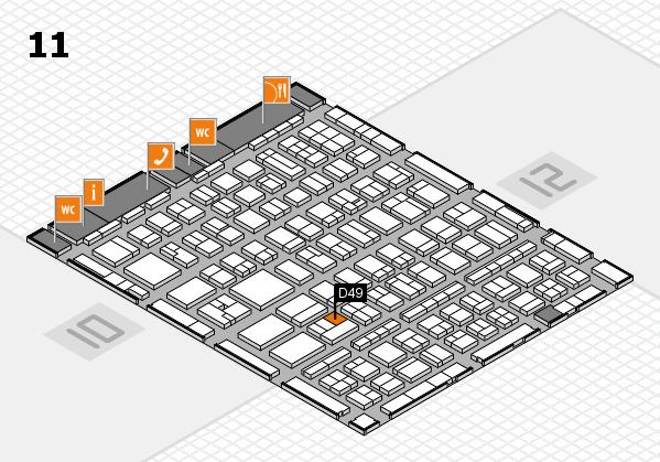 BEAUTY DÜSSELDORF 2017 hall map (Hall 11): stand D49