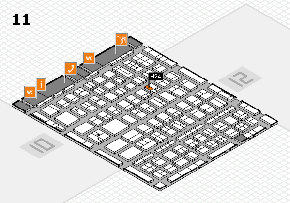 BEAUTY DÜSSELDORF 2017 hall map (Hall 11): stand H24