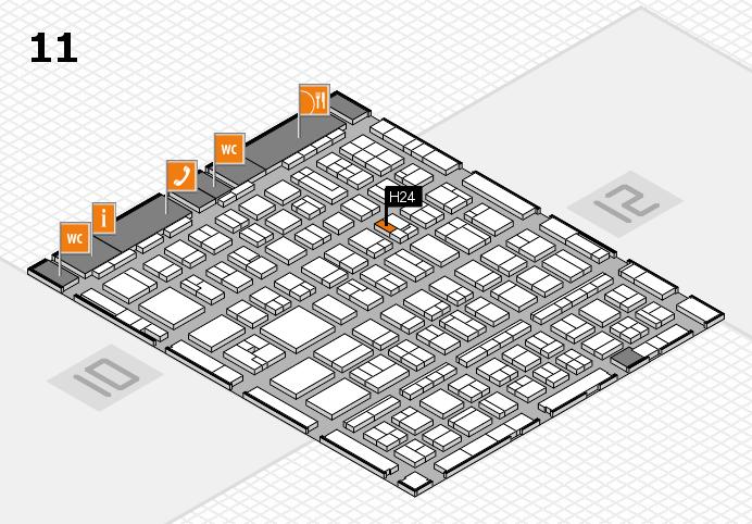 BEAUTY DÜSSELDORF 2017 hall map (Hall 11): stand H24