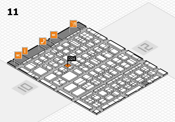 BEAUTY DÜSSELDORF 2017 hall map (Hall 11): stand D24