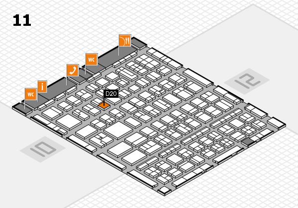 BEAUTY DÜSSELDORF 2017 hall map (Hall 11): stand D20