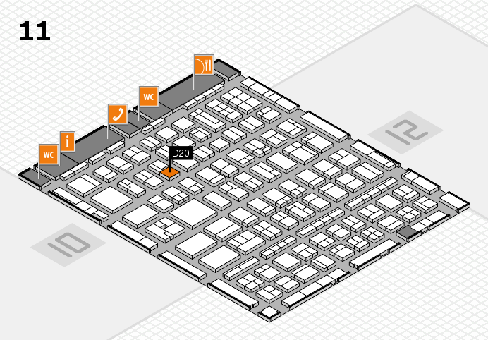 BEAUTY DÜSSELDORF 2017 Hallenplan (Halle 11): Stand D20