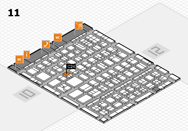 BEAUTY DÜSSELDORF 2017 hall map (Hall 11): stand C24