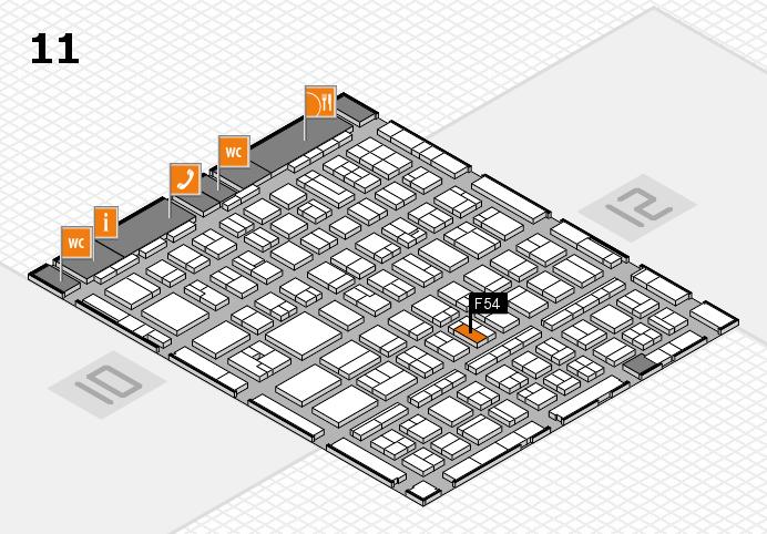 BEAUTY DÜSSELDORF 2017 hall map (Hall 11): stand F54