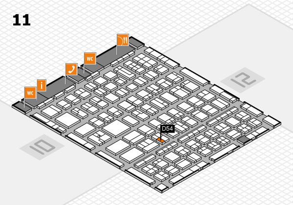 BEAUTY DÜSSELDORF 2017 hall map (Hall 11): stand D54
