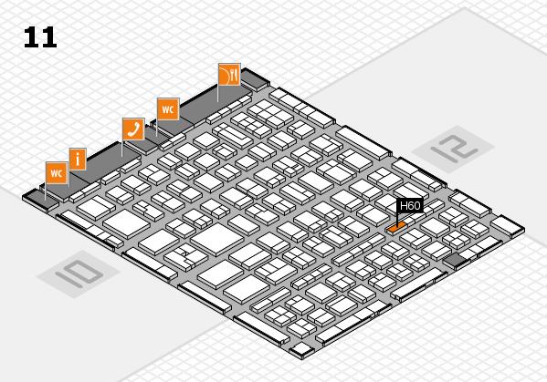 BEAUTY DÜSSELDORF 2017 hall map (Hall 11): stand H60