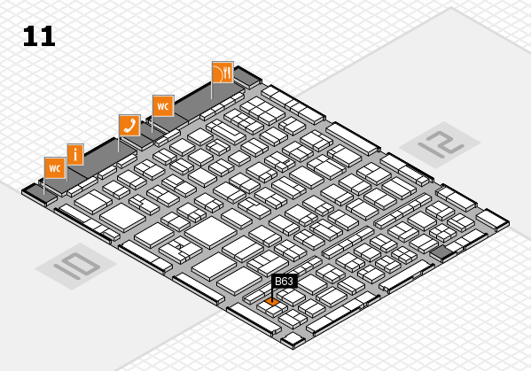 BEAUTY DÜSSELDORF 2017 hall map (Hall 11): stand B63