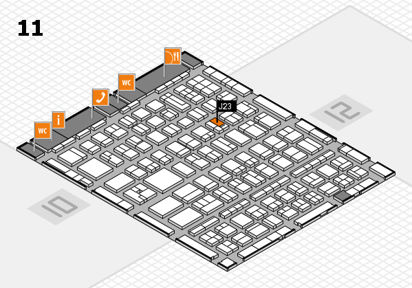 BEAUTY DÜSSELDORF 2017 hall map (Hall 11): stand J23