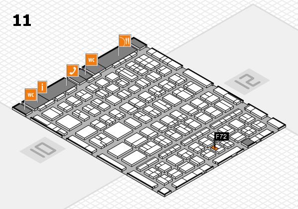 BEAUTY DÜSSELDORF 2017 hall map (Hall 11): stand F72