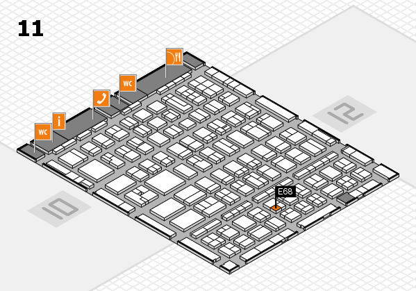 BEAUTY DÜSSELDORF 2017 hall map (Hall 11): stand E68