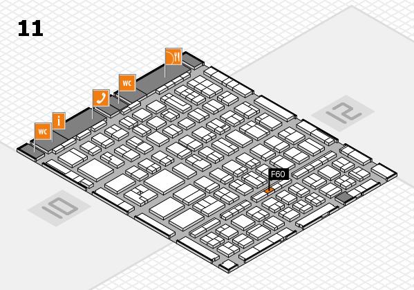 BEAUTY DÜSSELDORF 2017 hall map (Hall 11): stand F60