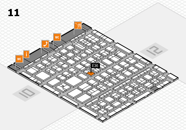 BEAUTY DÜSSELDORF 2017 Hallenplan (Halle 11): Stand E36