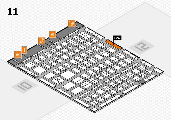 BEAUTY DÜSSELDORF 2017 Hallenplan (Halle 11): Stand L24
