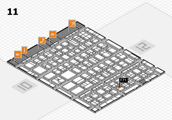 BEAUTY DÜSSELDORF 2017 hall map (Hall 11): stand F71